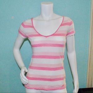 HOLLISTER Pink Striped Tee
